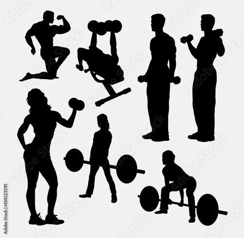 Quot Fitness Male And Female Activity Silhouette Good Use For