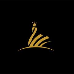 Royal swan symbol