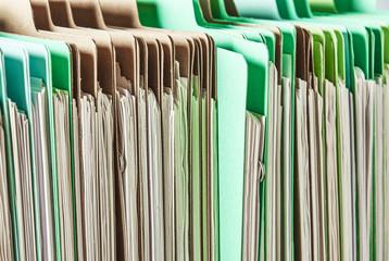 Files. Pile of paperwork.