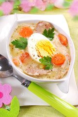traditional easter white borscht