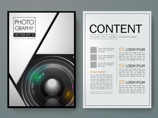 Vector magazine,modern flyers brochure,cover,report,design templates,layout with 3d lens camera  background in a4 size,To adapt for business poster,book,presentation,advertisemen, illustration