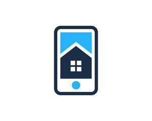 Mobile House Logo Design Template