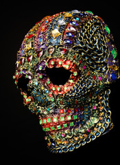 Skull decorated with colorful stones