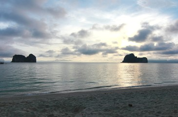 Sunset at in koh khai ,Trang Province , Thailand