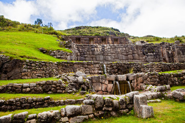 Poster South America Country Tambomachay ruins in Cusco Peru