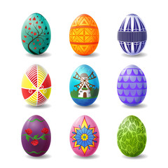 Set of Easter Eggs