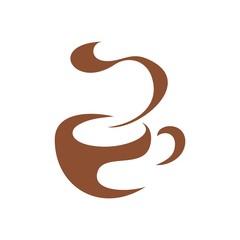 Coffee Tea Cup Logo Cafe Abstract
