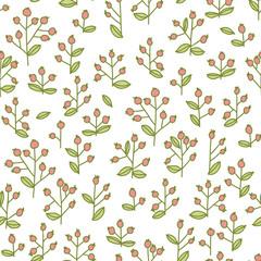 cute berries seamless pattern