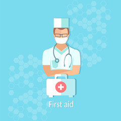 Medicine doctor professional first aid kit