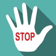 Stop. palm of hand