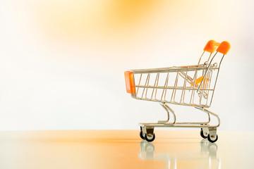 Shopping cart in orange environment