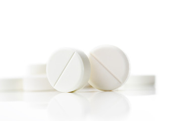 close up of tablets