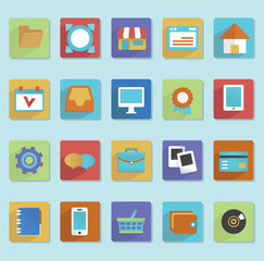 Flat icons for web design - part 1