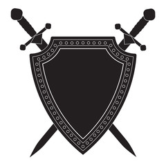Shield and swords icon.