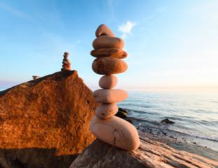 Stones at rocky seashore