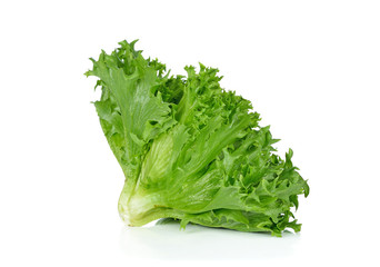 Green lettuce isolated on the white background
