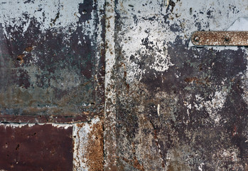 Color weathered metal wall texture.
