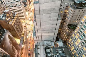 New York. Beautiful aerial view of city skyscrapers