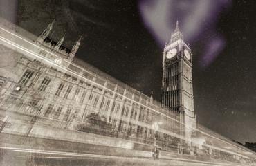 Vintage photo of London landmark