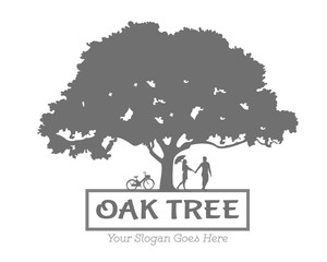 Vector Oak Tree Love Logo