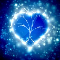Futuristic heart  illustration