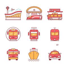 Modern transportation and urban infrastructure set