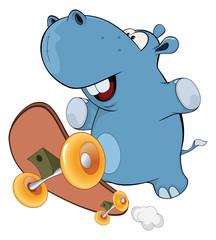 A little hippo. Cartoon