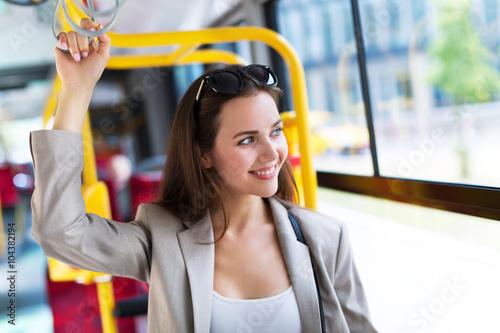 woman on bus photo libre de droits sur la banque d 39 images image 104382194. Black Bedroom Furniture Sets. Home Design Ideas
