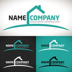 logo maison vente location agence construction