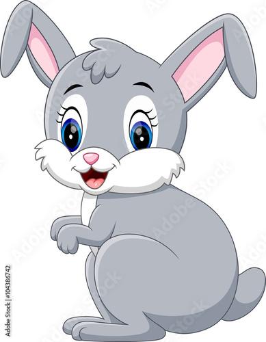 Illustration Of Cute Rabbit Cartoon Stock Image And Royalty Free