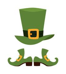 Green leprechaun hat vector illustration.