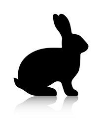 Black Silhouette of a Rabbit | Vector graphics