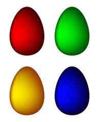 Easter egg set vector symbol , icon  design. Spring illustration isolated on white background.