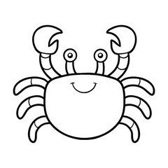 Coloring book, coloring page (crab)