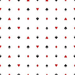 Card Suits Seamless Pattern