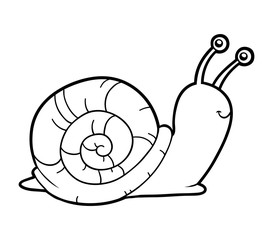 Coloring book, coloring page (snail)