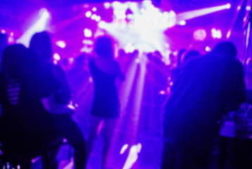 club party is blurred background