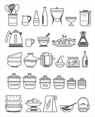Kitchen utensils. Vector illustration
