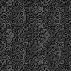 Seamless 3D elegant dark paper art pattern 218 Spiral Curve Kaleidoscope