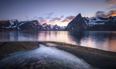 Norway, Lofoten, Reinebringen Fjord