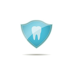 icon logo protection of teeth. shield