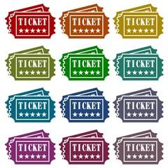 Ticket Icons set
