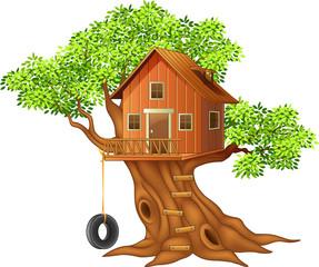 Beautiful tree house cartoon