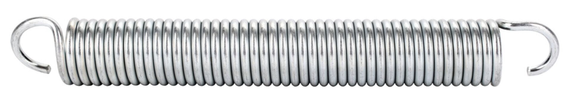 Metal spring tension coil for resist stretching
