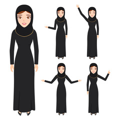 The beautiful Muslim womanl in a hijab. people character.