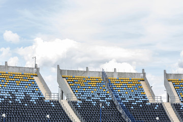 Empty grandstand in stadium