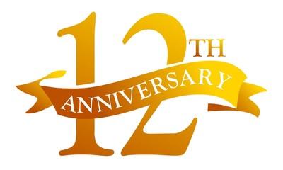 12 Year Ribbon Anniversary