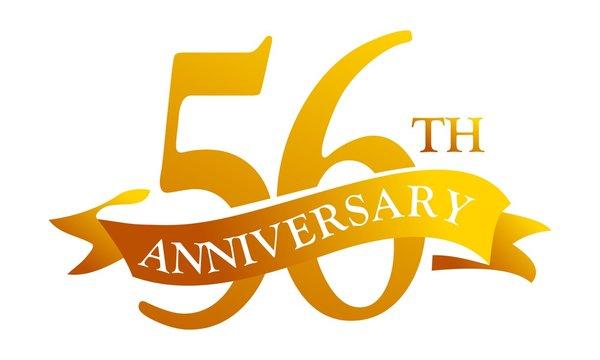 56 Year  Ribbon Anniversary