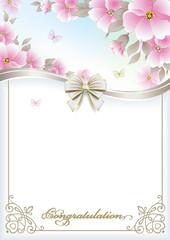 happy Birthday. Postcard with flowers