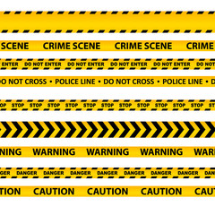 vector set of seamless caution tapes
